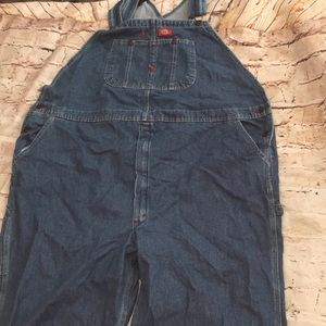 Dickies Big and Tall Overalls Indigo Blue-50x32